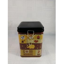 Fém Kávés doboz kocka csatos