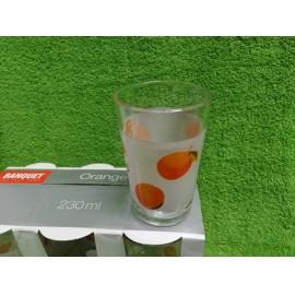 Üdítős üvegpohár narancsos