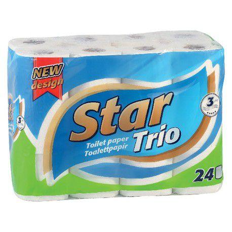 Star Trió toalettpapír 24 tekercs 3 rétegű