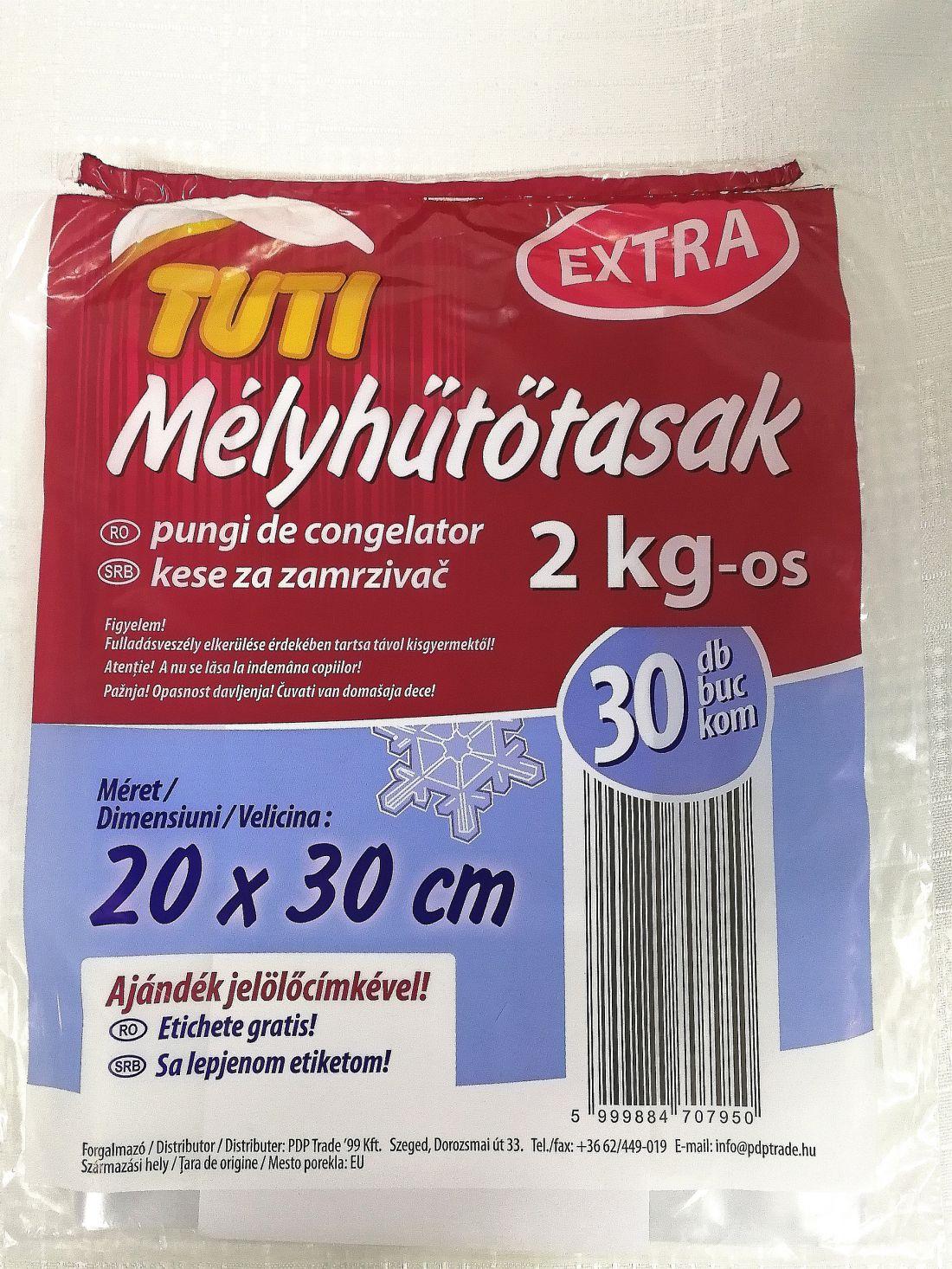Mélyhűtő tasak EXTRA erős 2 Liter