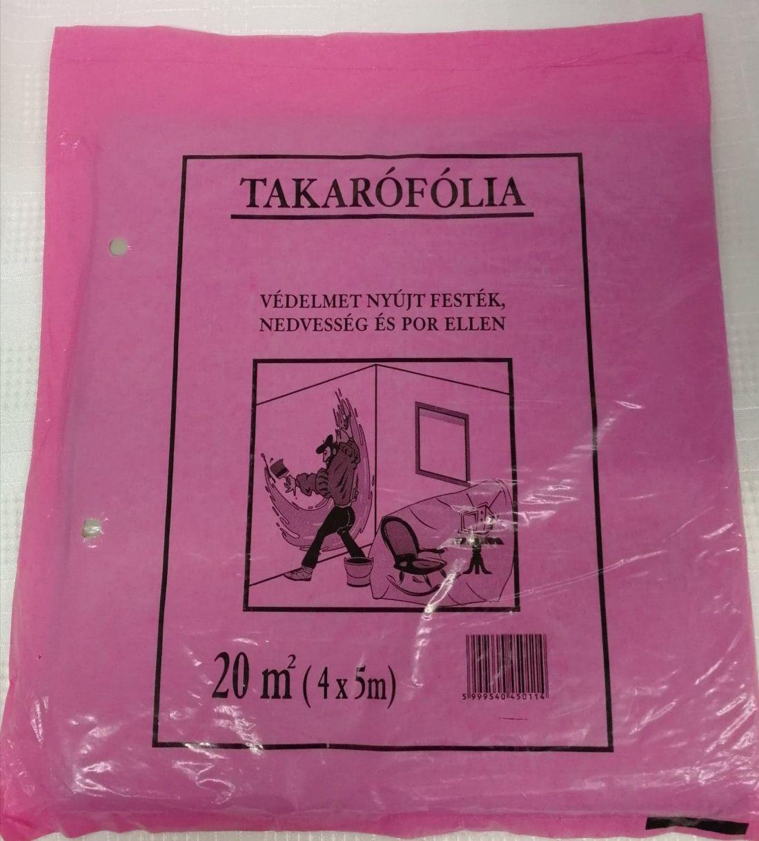 Takarófólia (rózsaszín) Vékony