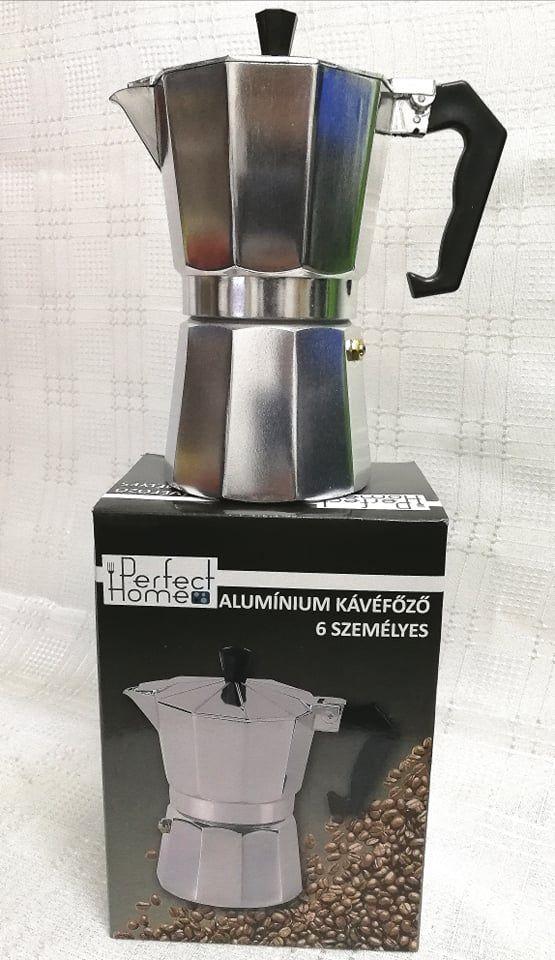 Kávéfőző kotyogós 6 személyes Perfect home