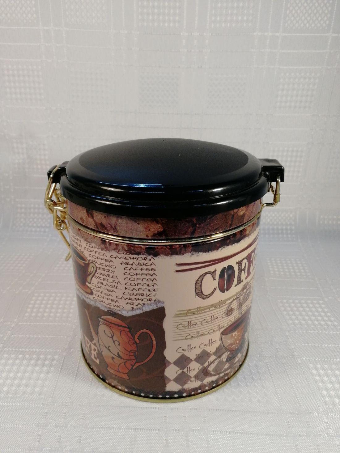 Fém Kávés doboz ovális csatos