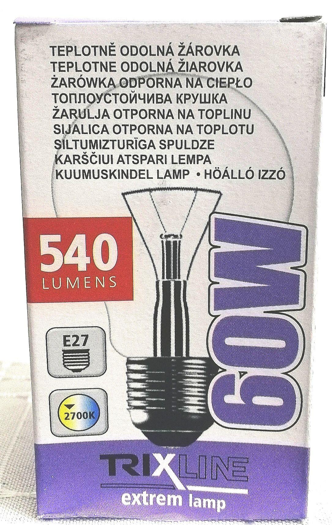 Hőálló izzó hagyományos 60W E27