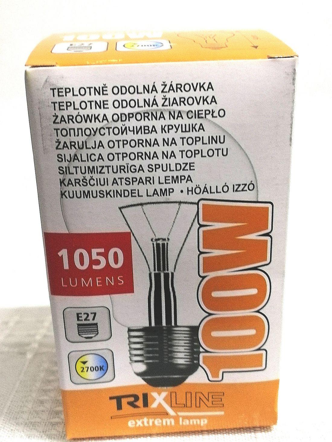 Hőálló izzó hagyományos 100W E27