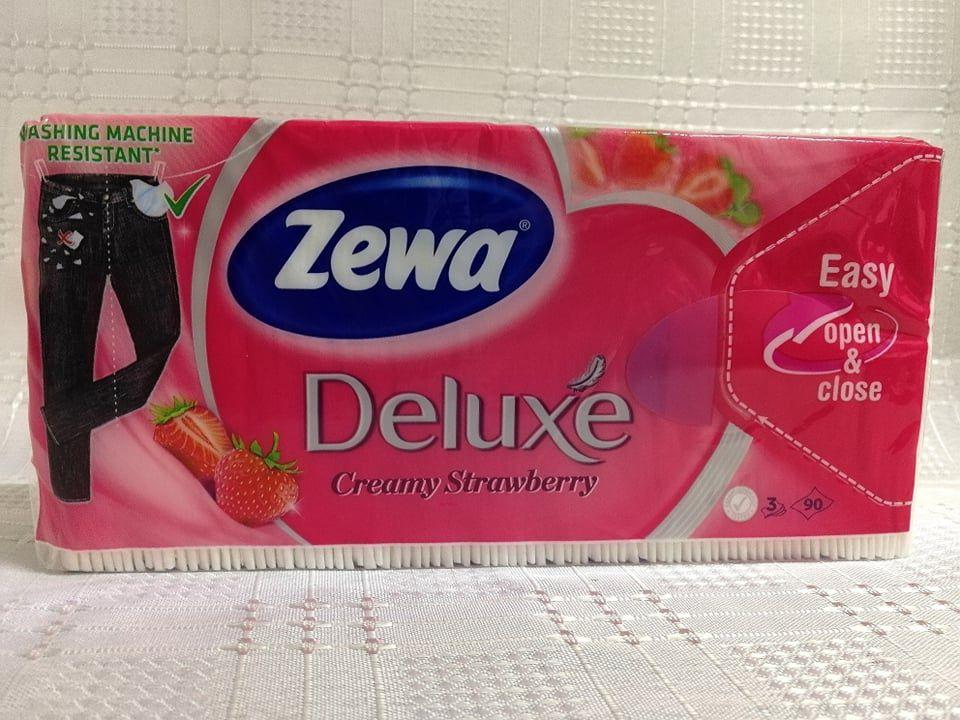 Zewa Deluxe Creamy Strawberry papírzsebkendő