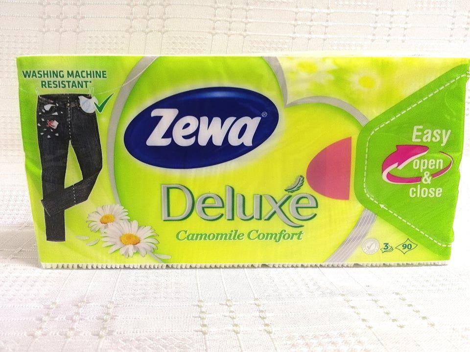 Zewa Deluxe Camomile Comfort papírzsebkendő