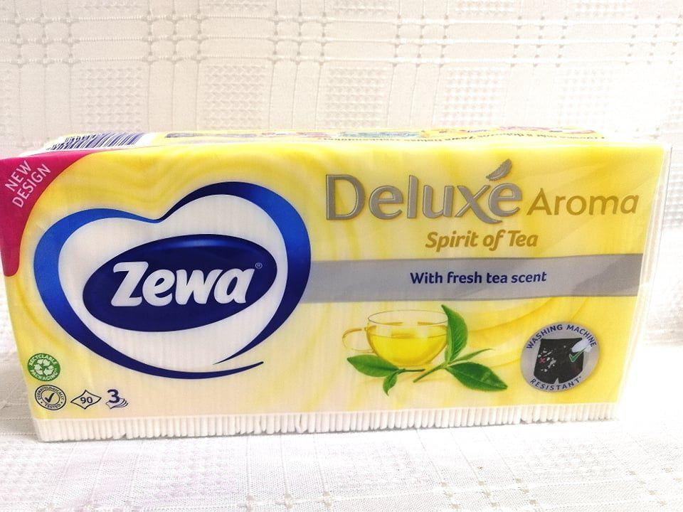Zewa Deluxe Spirit of Tea papírzsebkendő