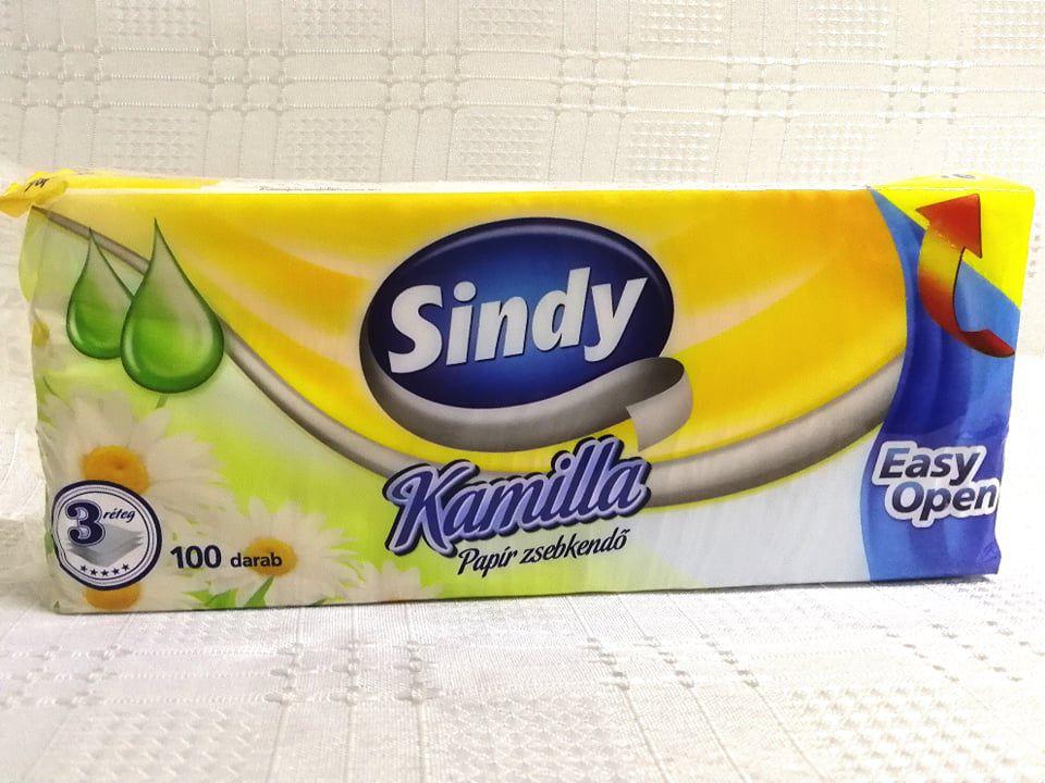 Sindy Kamilla papír zsebkendő 100 db 3 rétegű