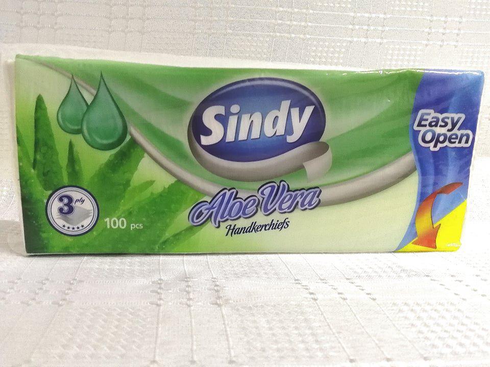 Sindy Aloe Vera papír zsebkendő 100 db 3 rétegű
