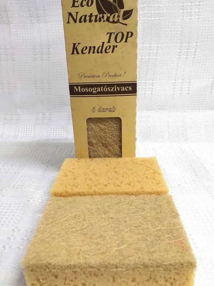 Eco Natural Kender mosogatószivacs 6db