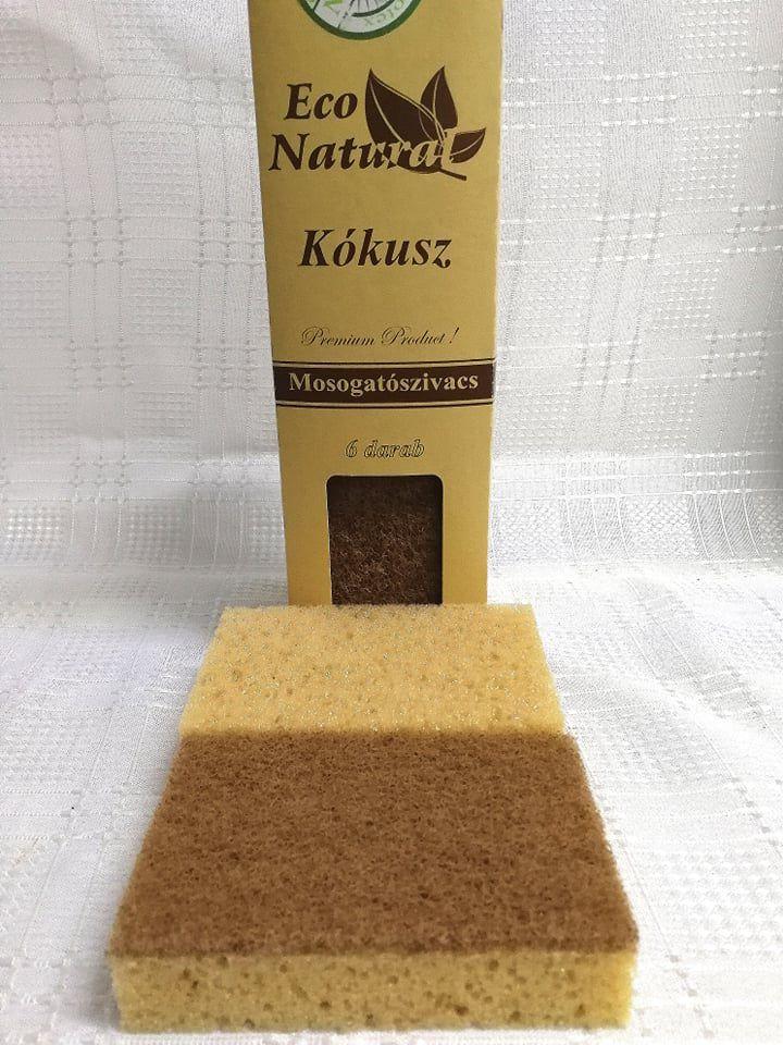 Eco Natural Kókusz mosogatószivacs 6db