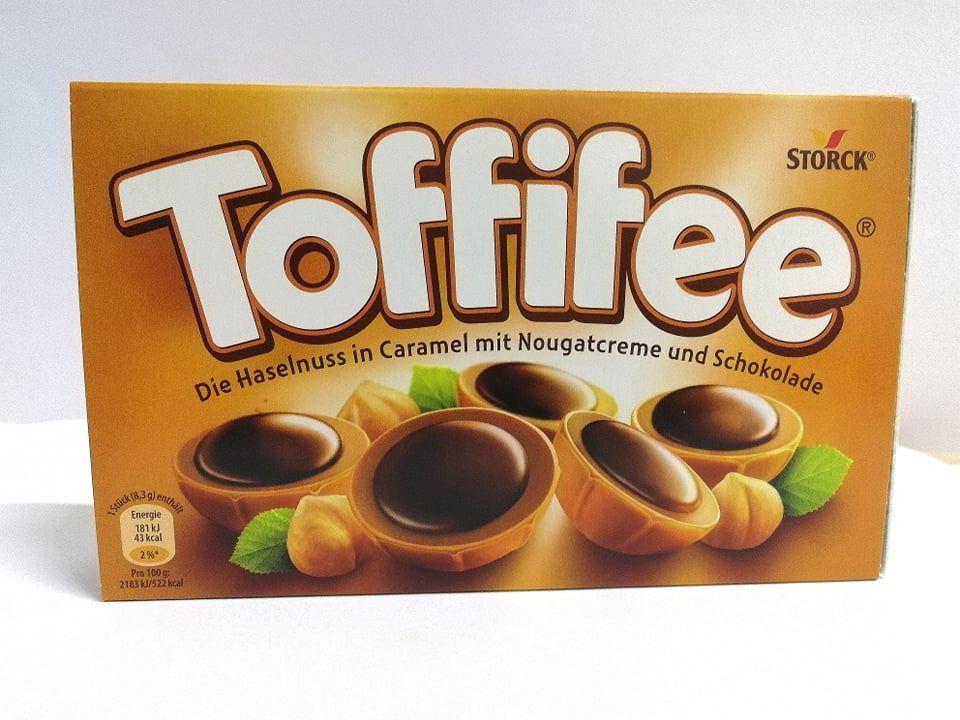 Toffifee mogyoró karamellben, mogyorós nugátkrémmel és csokoládéval 125 g 15DB
